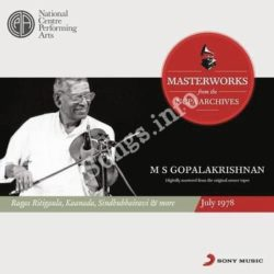 From The Ncpa Archives M S Gopalakrishnan